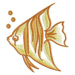 Sketched Angel Fish embroidery design