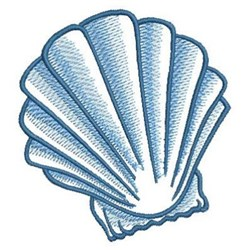 Sketched Seashell embroidery design