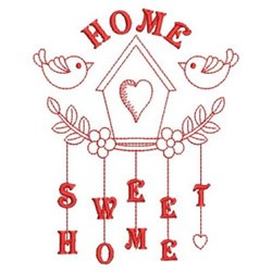 Redwork Birdhouse embroidery design