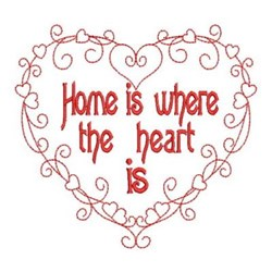 Redwork Heart & Home embroidery design