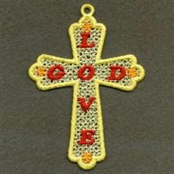 FSL Love God Cross embroidery design