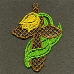 FSL Tulip Cross embroidery design