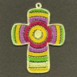 FSL Rainbow Cross embroidery design