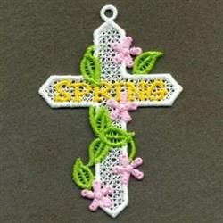 FSL Floral Vine Cross embroidery design