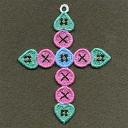 FSL Button Cross embroidery design