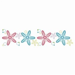Summer Starfish Border embroidery design