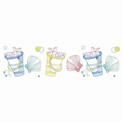 Toy Pail & Seashell Border embroidery design