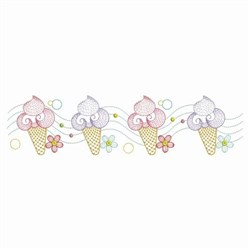 Ice Cream Border embroidery design
