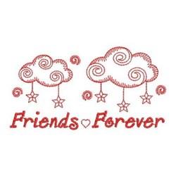 Redwork Friends Forever Sky embroidery design