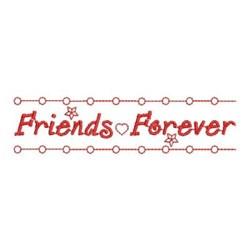 Redwork Friends Forever Border embroidery design