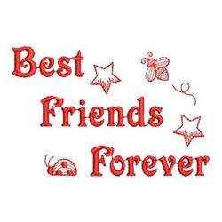 Redwork Friends Forever Bugs embroidery design