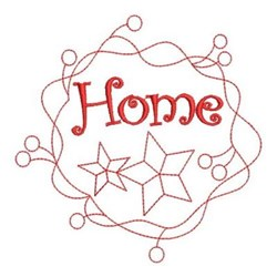 Redwork Home embroidery design
