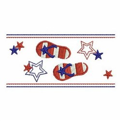 Patriotic Flip Flop Border embroidery design