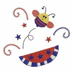 Patriotic Bee & Watermelon embroidery design
