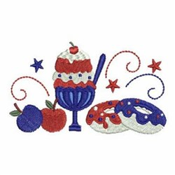 Patriotic Summer Treats embroidery design
