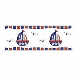 Patriotic Sailboat Border embroidery design