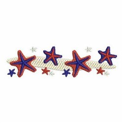 Patriotic Starfish Border embroidery design