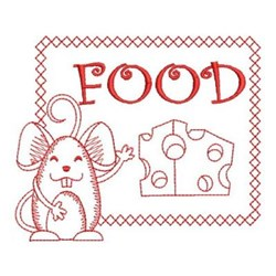 Redwork Mouse Sign embroidery design