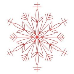 Redwork Snowflake embroidery design