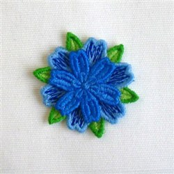 3D Flowers embroidery design