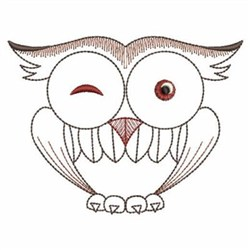 Winking Owl embroidery design