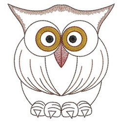 Owl With Big Eyes Embroidery Designs Machine Embroidery Designs At EmbroideryDesigns.com