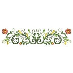 Classic floral border embroidery designs machine for Classic border design