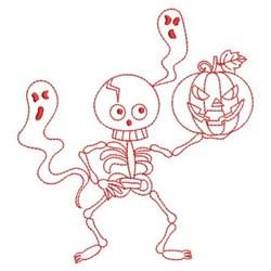 Jack Skeleton Embroidery Design