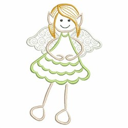 Happy Elf Angel embroidery design