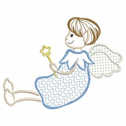 Sitting Elf Angel embroidery design
