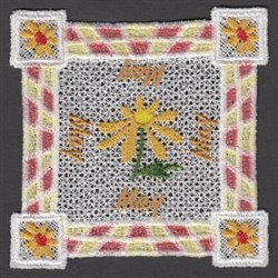 FSL May Doily embroidery design