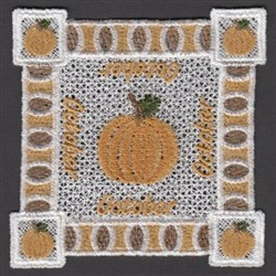 FSL October Doily embroidery design