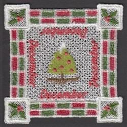 FSL December Doily embroidery design