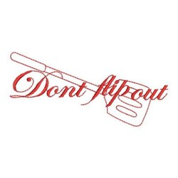 Redwork Dont Flip Out embroidery design