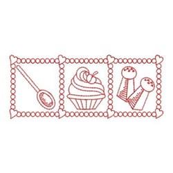 Redwork Sweet Kitchen embroidery design