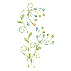 Abstract Dandelion embroidery design