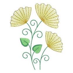 Abstract Dandelion Trio embroidery design