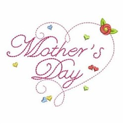 Mothers Day Heart embroidery design
