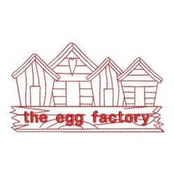 Redwork The Egg Factory embroidery design