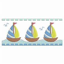 Sailboat Border embroidery design