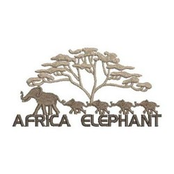 Africa Elephant embroidery design