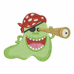 Monster With Telescope embroidery design