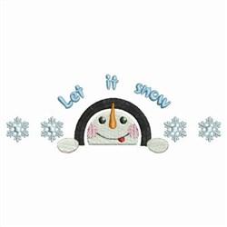 Snowman Head Border embroidery design