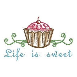 Life Is Sweet Border embroidery design