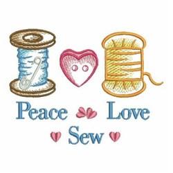 Peace Love Sew embroidery design