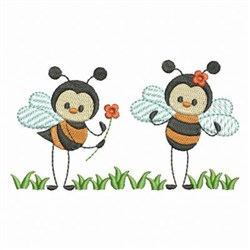 Happy Bees embroidery design