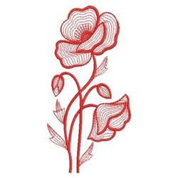 Redwork Poppy embroidery design