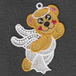 FSL Valentine Angel Bear embroidery design