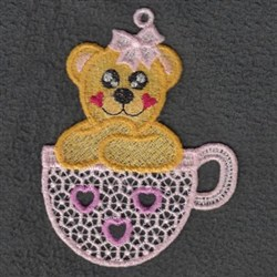 FSL Valentine Teacup Bear embroidery design