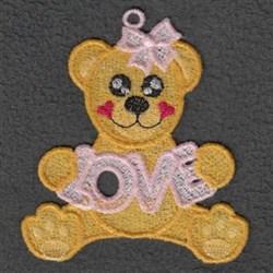 FSL Love Bear embroidery design